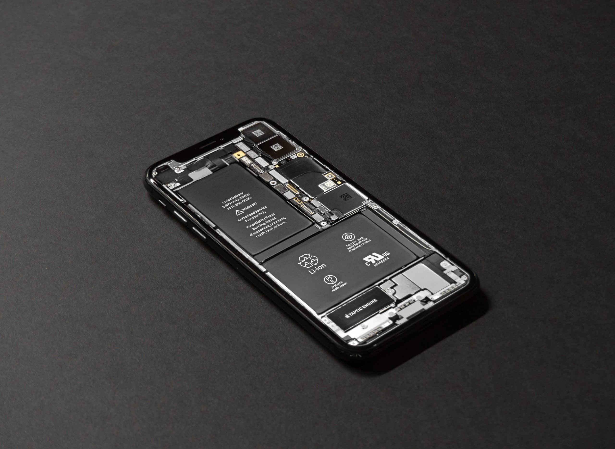 Iphone w środku